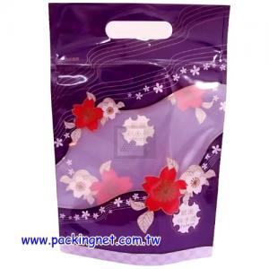 SL104-1 和風小紫 手提夾鏈立袋