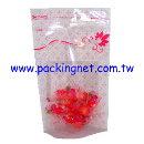 SL602 粉紅花夾鏈立袋